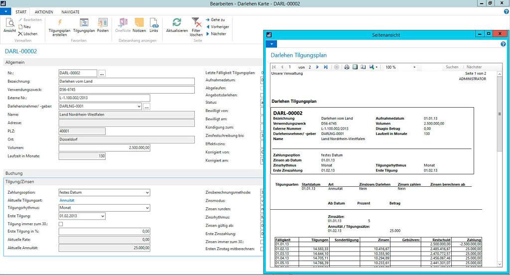 Integrierte Darlehensverwaltung von Axians Infoma als Alternative für MZins-Nutzer